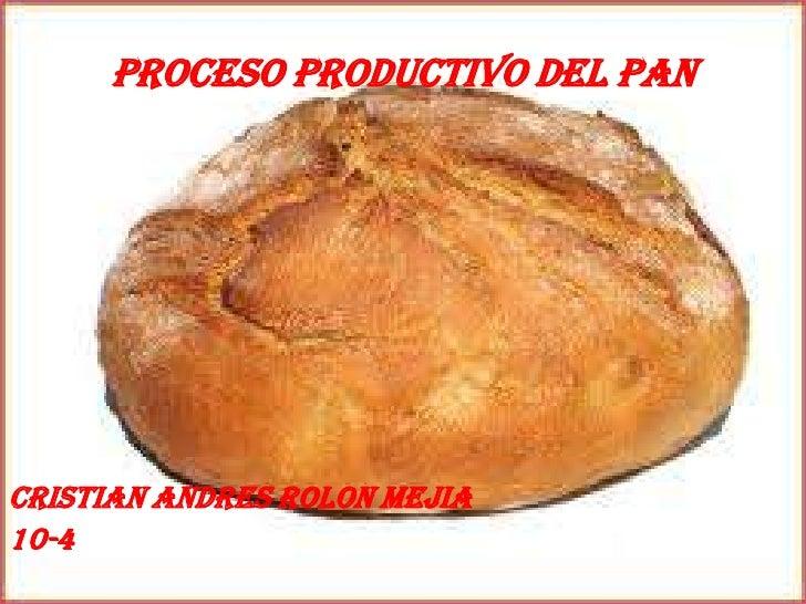 Proceso productivo del panCristian andres rolon mejia10-4