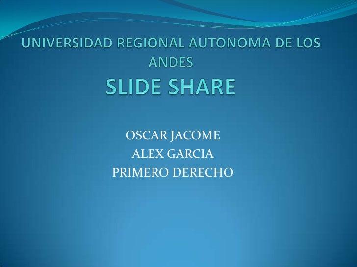 OSCAR JACOME   ALEX GARCIAPRIMERO DERECHO