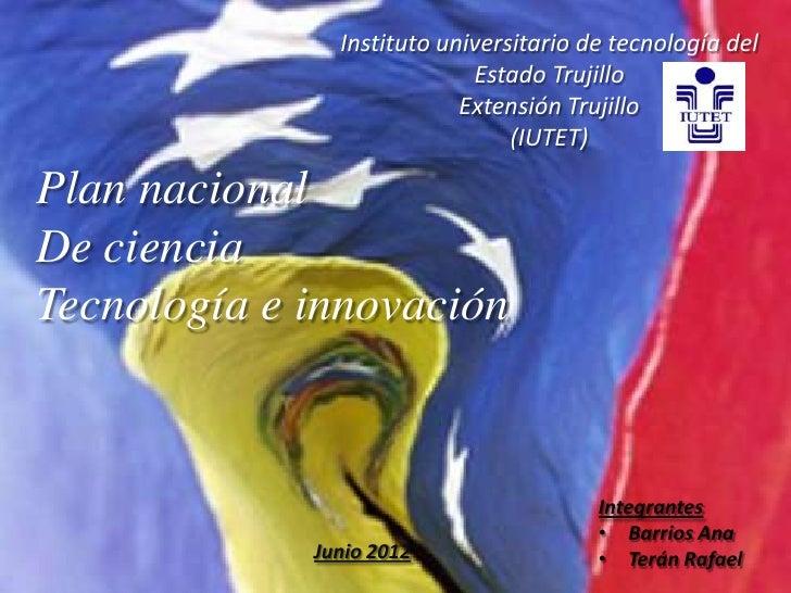 Instituto universitario de tecnología del                            Estado Trujillo                           Extensión T...