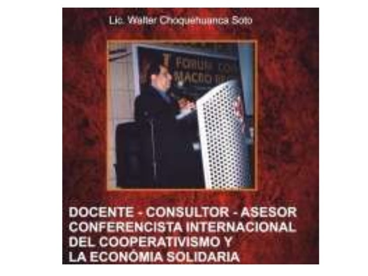 COOPERATIVAS - ECONOMIA SOCIAL