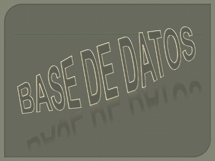 La estructura de una base de datos hace referenciaa los tipos de datos, los vínculos o relaciones y lasrestricciones que d...