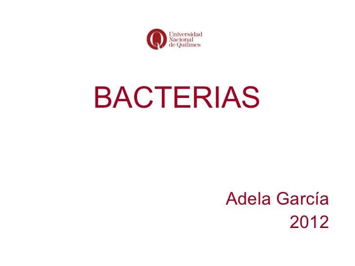 BACTERIAS       Adela García              2012
