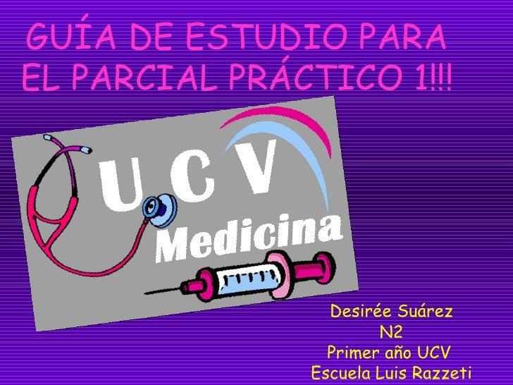 GUÍA DE ESTUDIO PARA EL PARCIAL PRÁCTICO 1!!! Desirée Suárez N2 Primer año UCV  Escuela Luis Razzeti