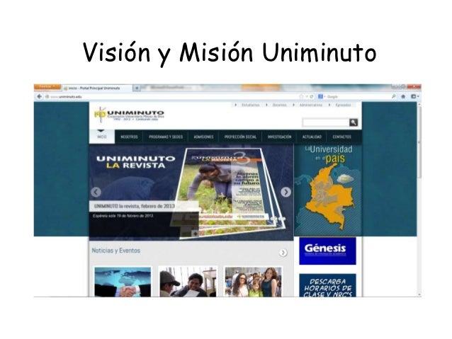 Visión y Misión Uniminuto