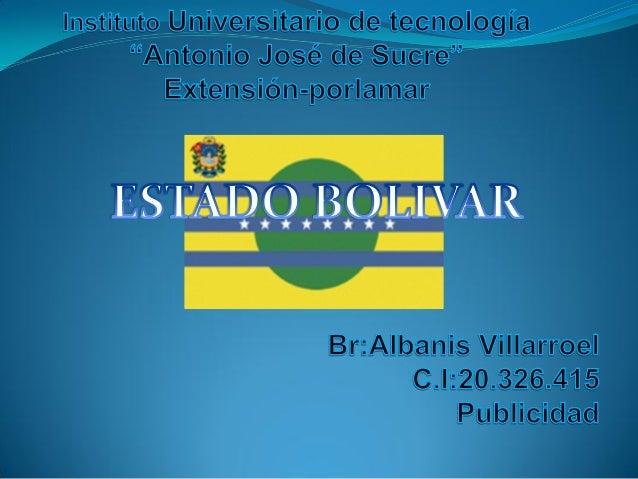 Estado Bolivar.