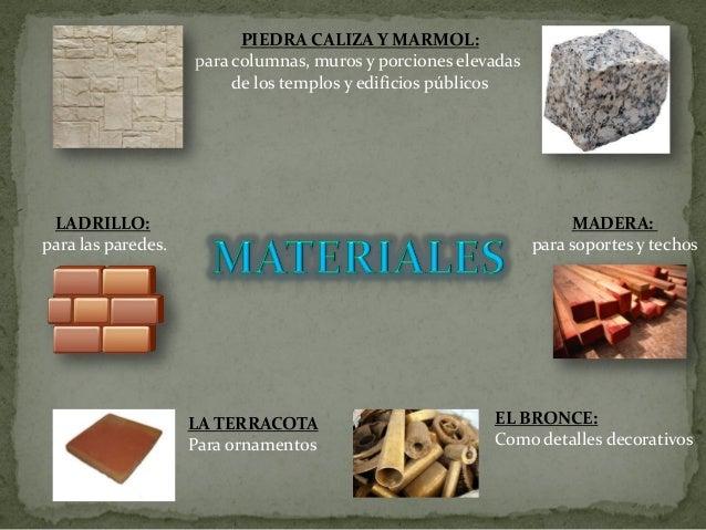 Materiales y construcci n de la arquitectura de la grecia - Materiales de construcion ...