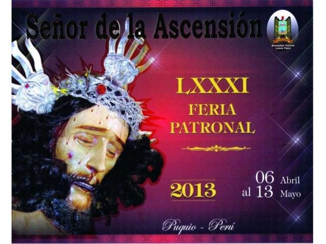 Programa Oficial de la LXXXI Feria Patronal en honor al Señor de La Ascensión