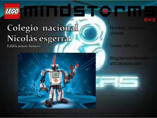Nombre: JonathanchavesCurso: 904 j.mBlog:tecnoinformatica50.blospot.com