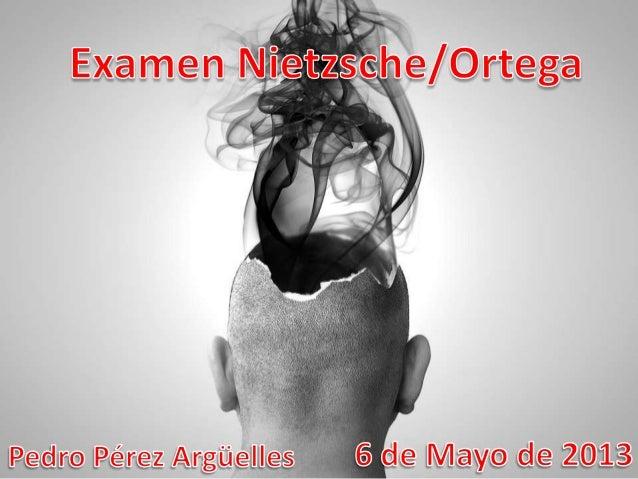 Examen Nietzsche VS. Ortega y Gasset