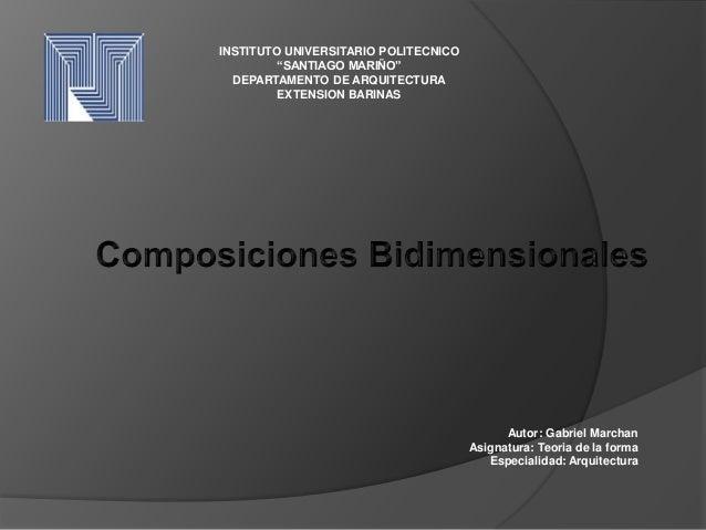 composiciones bidimensionales