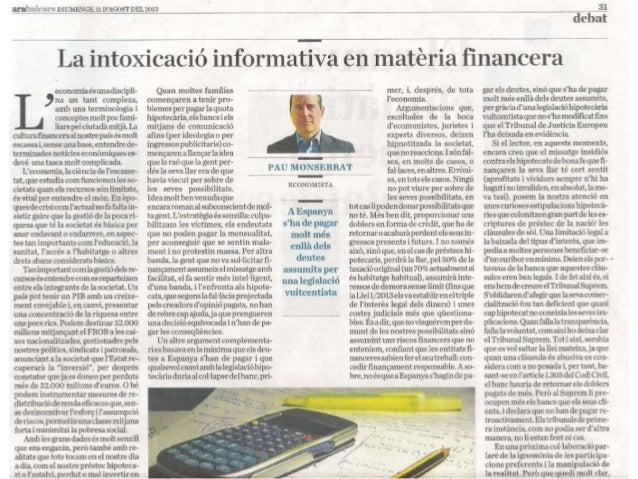 La manipulació informativa en matèria financera