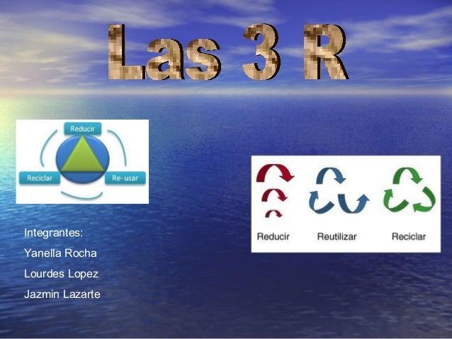 Integrantes: Yanella Rocha Lourdes Lopez Jazmin Lazarte