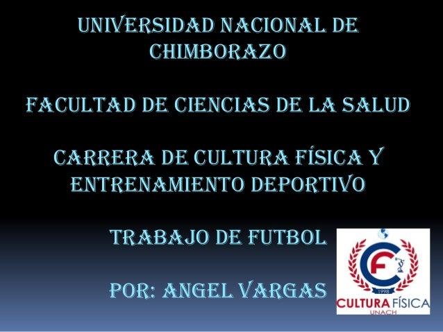 Universidad nacional de Chimborazo Facultad de ciencias de la salud Carrera de cultura física y entrenamiento deportivo Tr...
