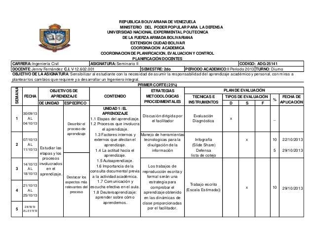 SEMANA  REPUBLICA BOLIVARIANA DE VENEZUELA MINISTERIO DEL PODER POPULAR PARA LA DEFENSA UNIVERSIDAD NACIONAL EXPERIMENTAL ...