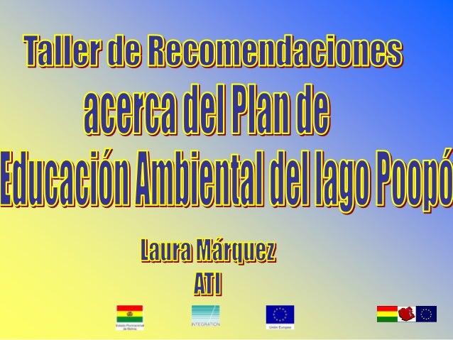 Análisis de Involucrados: • Dirección Departamental de Educación • Asamblea Departamental de Oruro • Organizaciones de la ...
