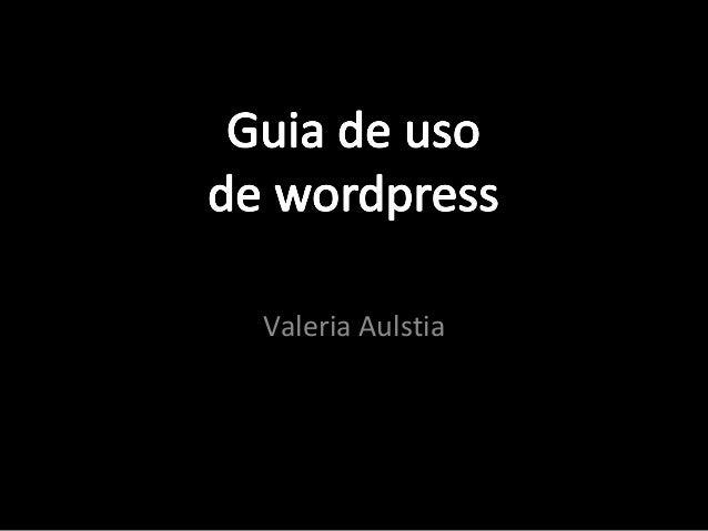 guia de uso de wordpress