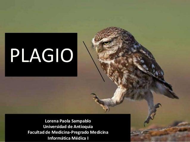 Lorena Paola Sampablo Universidad de Antioquia Facultad de Medicina-Pregrado Medicina Informática Médica I