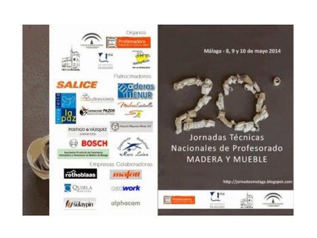 Jornadas Técnicas Nacionales de Profesorado de Madera y Mueble