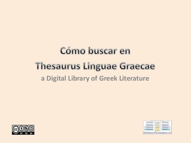 a Digital Library of Greek Literature