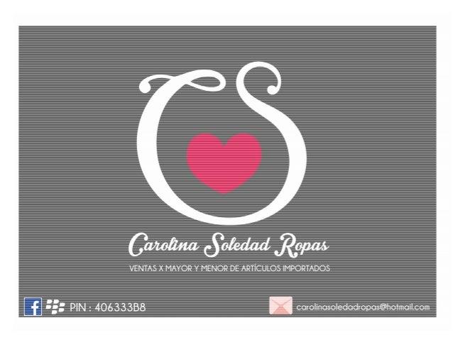 Catalogo Julio Carolina Soledad Ropas