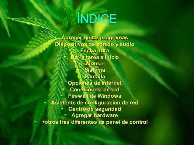 ÍNDICE • Agregar quitar programasAgregar quitar programas • Dispositivos de sonido y audioDispositivos de sonido y audio •...