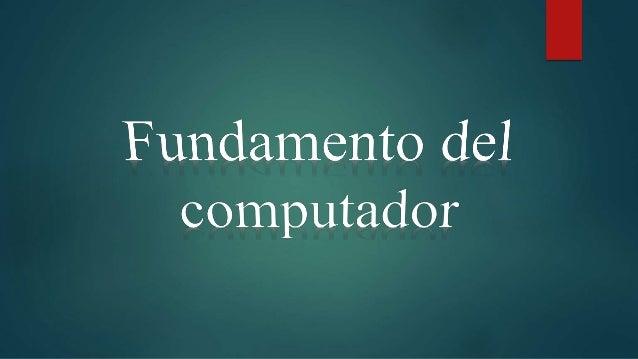¿Qué es un computador? Un computador es una máquina que está diseñada para facilitarnos la vida. Esta máquina electrónica ...