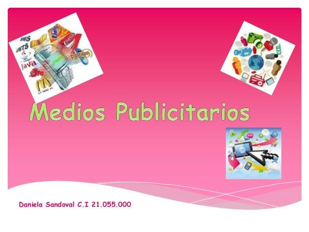 Daniela Sandoval C.I 21.055.000