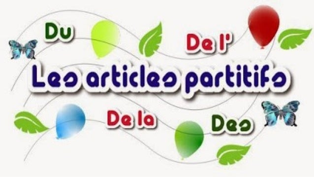 Les articles partitifs