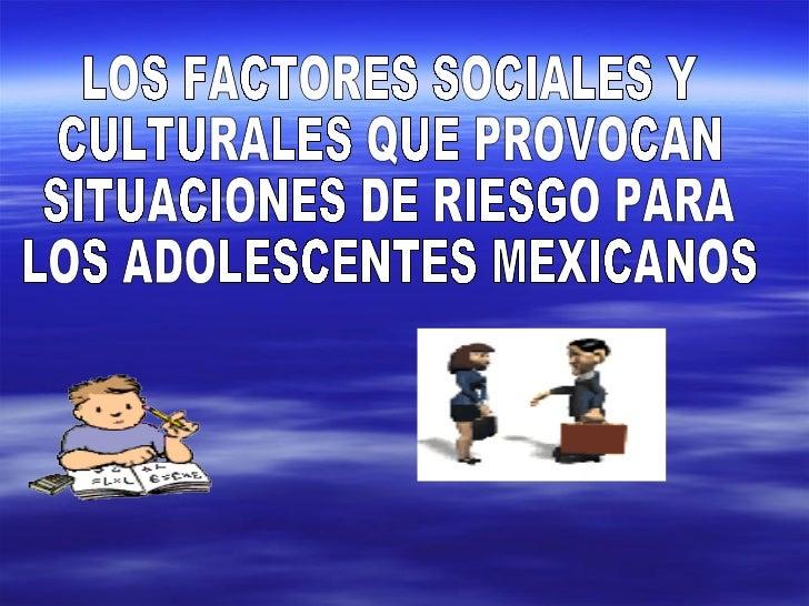 factores de riesgo en los adolescentes: