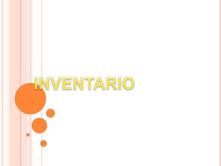 INVENTARIO<br />