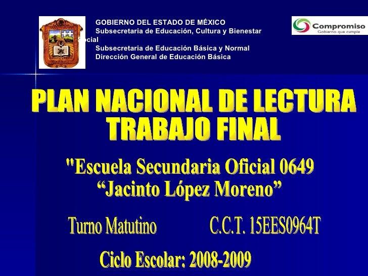GOBIERNO DEL ESTADO DE MÉXICO  Subsecretaria de Educación, Cultura y Bienestar Social Subsecretaria de Educación Básica y ...