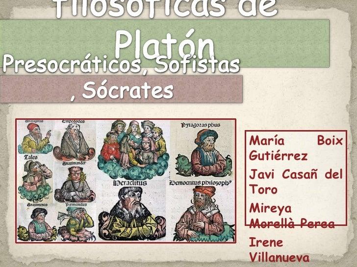 Influencias filosóficas de Platón