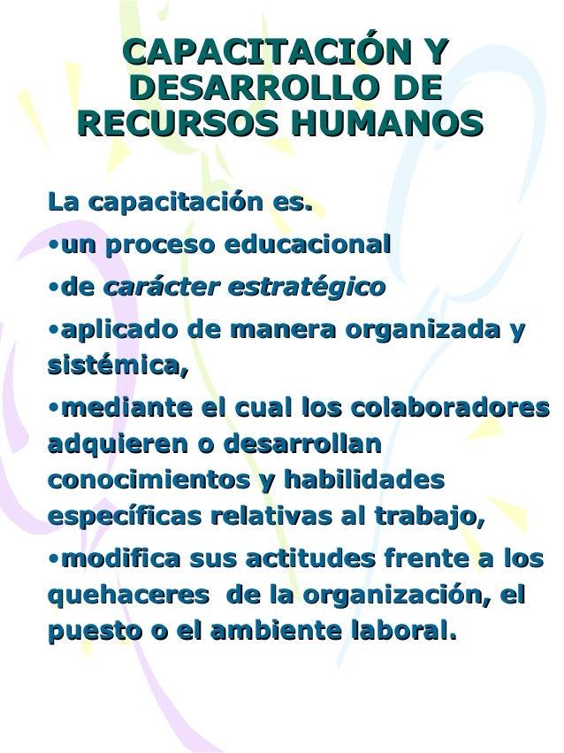 Presentación 1 capacitacion y desarrollo de recursos humanos