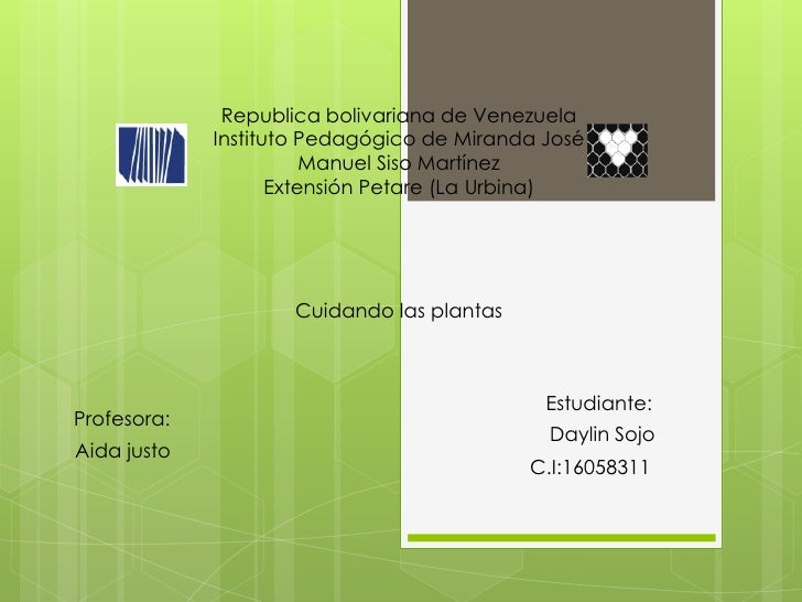 Republica bolivariana de Venezuela             Instituto Pedagógico de Miranda José                        Manuel Siso Mar...
