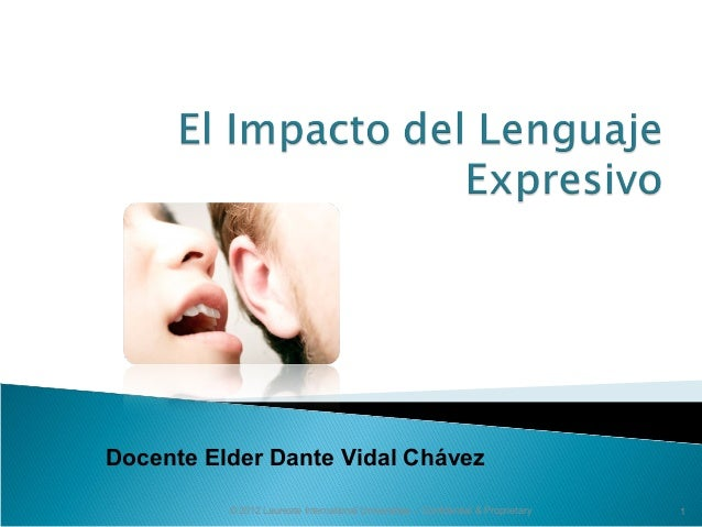 © 2012 Laureate International Universities – Confidential & Proprietary 1 Docente Elder Dante Vidal Chávez