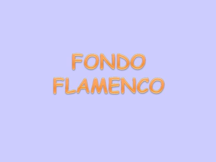Fondo flamenco