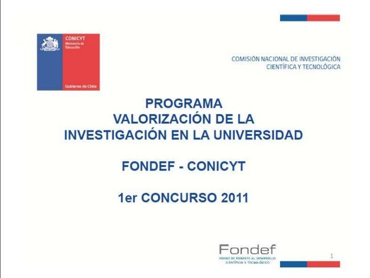 Presentación FONDEF