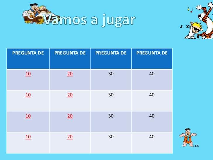 PREGUNTA DE   PREGUNTA DE   PREGUNTA DE   PREGUNTA DE    10            20            30            40    10            20 ...