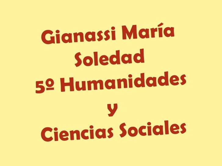 Gianassi María Soledad 5º Humanidades y  Ciencias Sociales