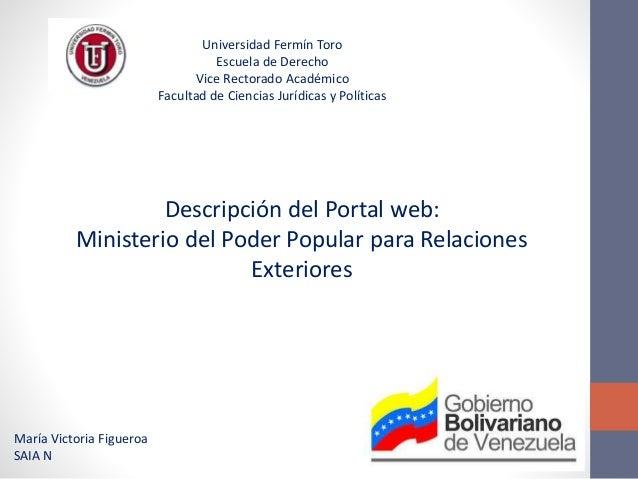 Portal Web Del Ministerio Del Poder Popular Para Relaciones Exteriores