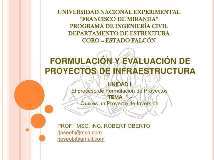 PresentacióN 1 (Los Proyectos De InversióN)