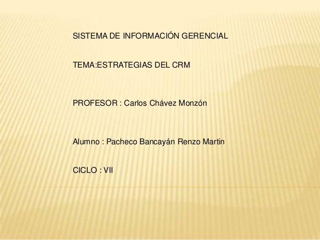 ESTRATEGIAS DEL CRM