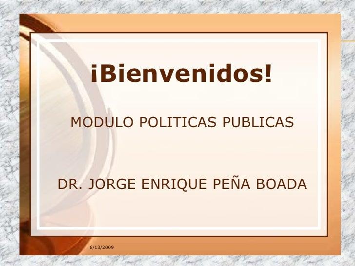 POLITICA Y ORGANIZACIONES PUBLICAS Jorge PeñA