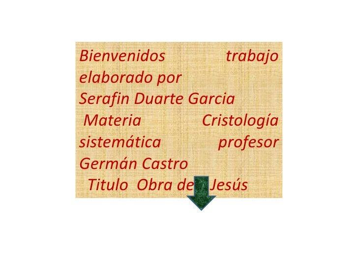 Trabajo de Cristologia sistematica
