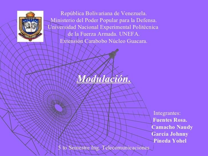 República Bolivariana de Venezuela.  Ministerio del Poder Popular para la Defensa. Universidad Nacional Experimental Polit...