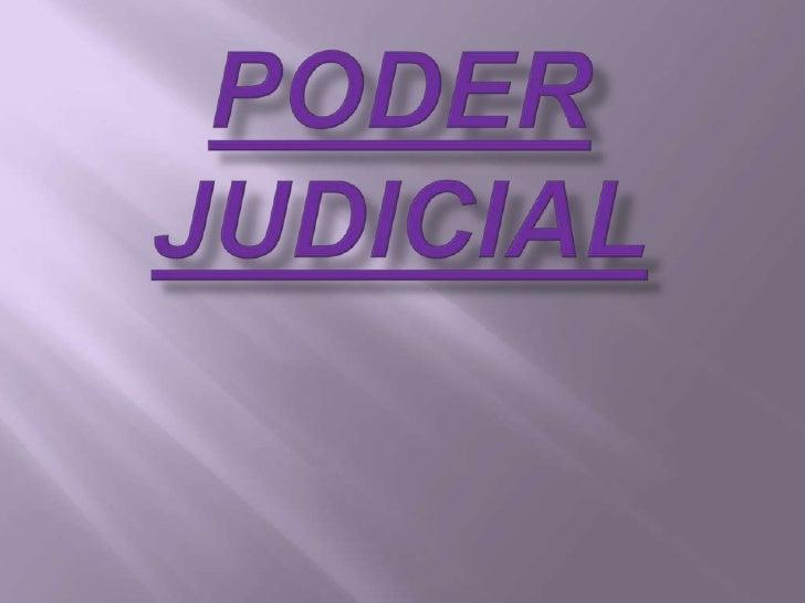 PODER JUDICIAL<br />