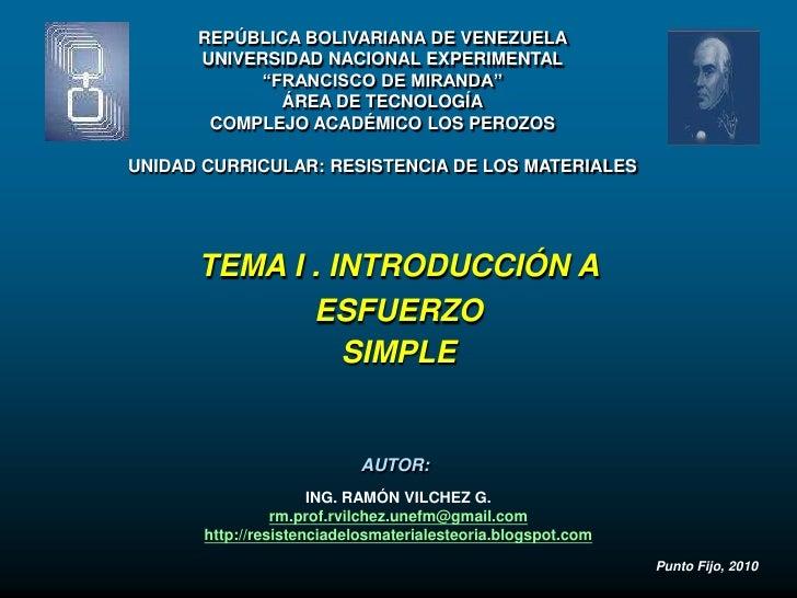 """REPÚBLICA BOLIVARIANA DE VENEZUELA       UNIVERSIDAD NACIONAL EXPERIMENTAL             """"FRANCISCO DE MIRANDA""""             ..."""