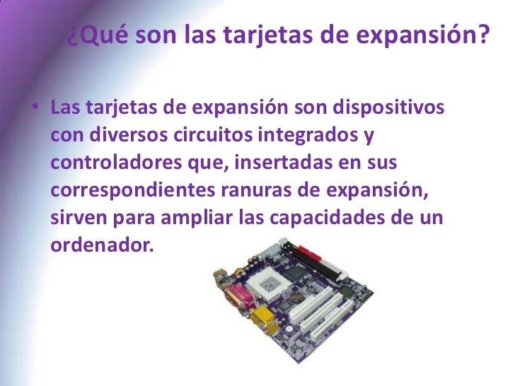 Tipos Tarjetas de Expansion Tipos de Tarjetas de Expansión