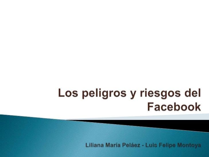 Los peligros y riesgos del FacebookLiliana María Peláez - Luis Felipe Montoya<br />