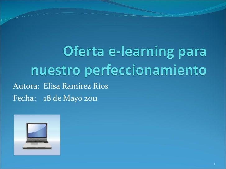 Algunos cursos e-learning